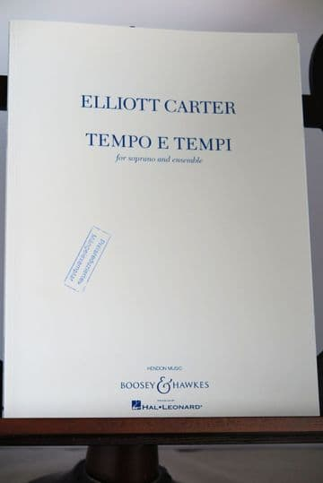 Carter E - Tempo e Tempi for Soprano and Ensemble